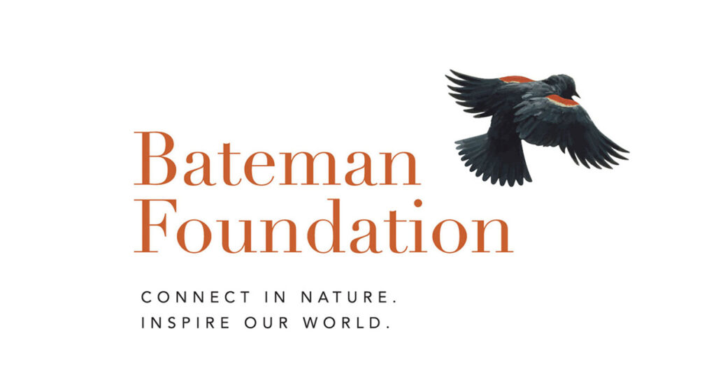 The Bateman Foundation logo and tagline (Connect in nature. Inspire our world.).