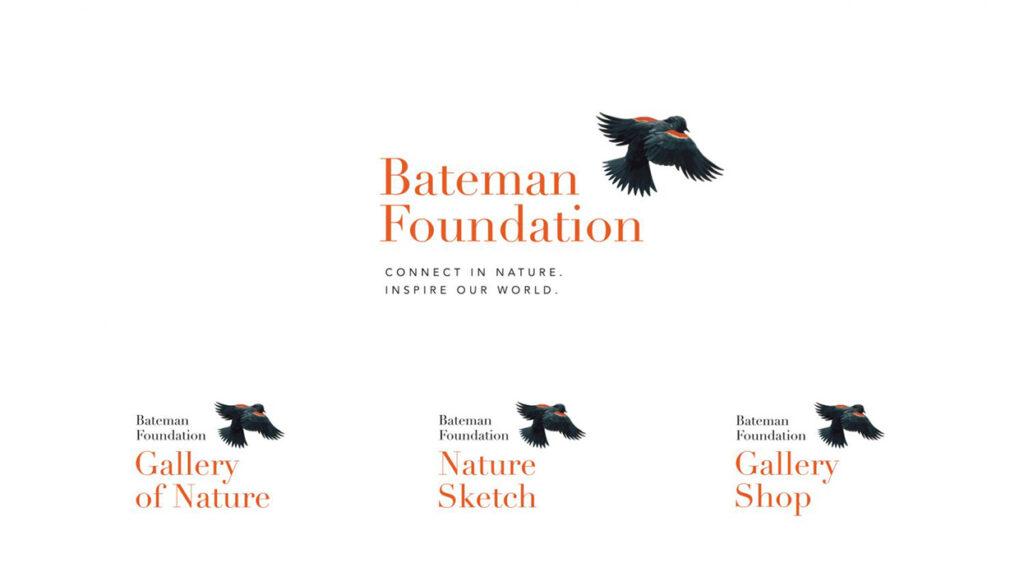 The Bateman Foundation logo, tagline, and signage.