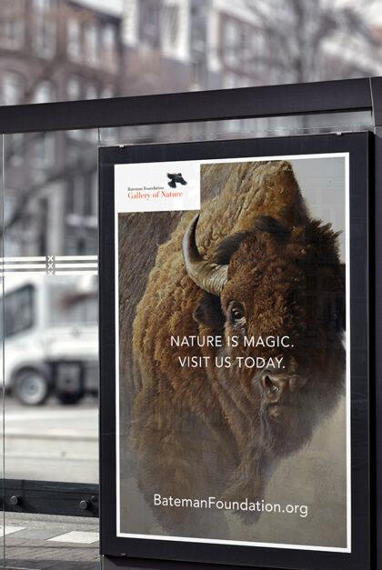 Bateman brand transit shelter ad