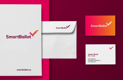 SmartBallot branded business materials.