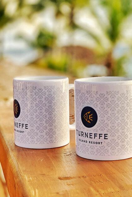 Turneffe branded mugs