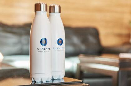 Turneffe branded waterbottles