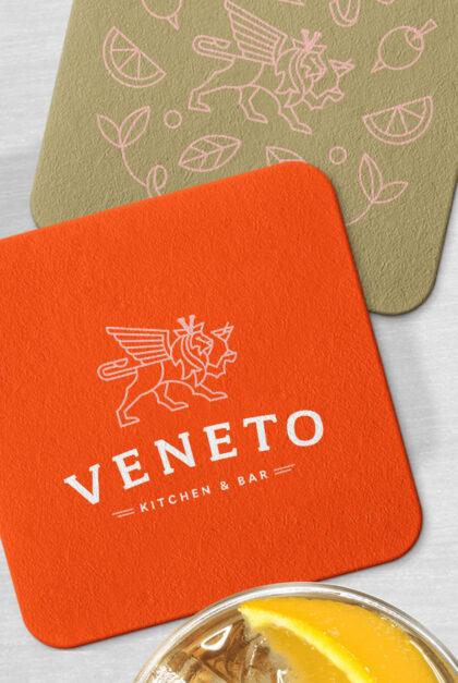 Veneto branded coasters