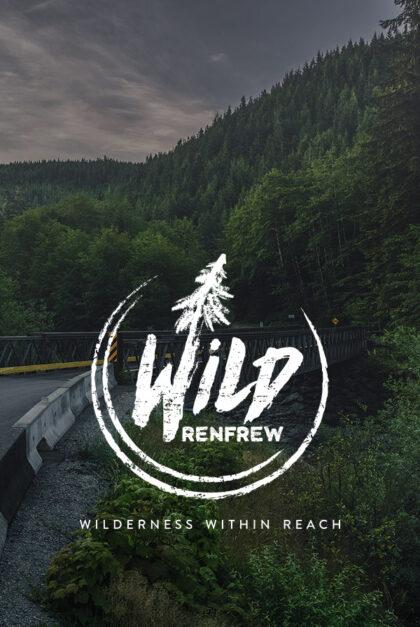 Wild Renfrew logo on image of forest