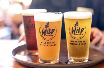 Wild Renfrew branded pint glasses