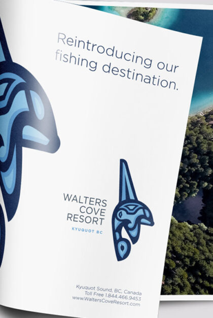 A photo of an ad for Walters Cove Resort