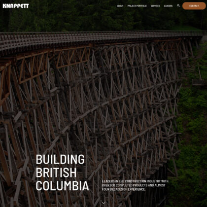 A section of the Knappett homepage