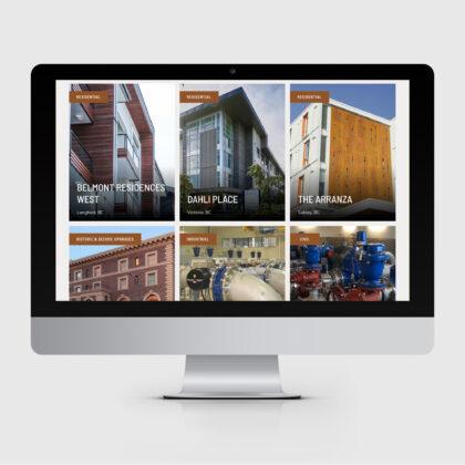 A mobile screen showing the Knappett website